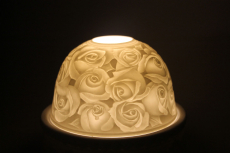 Porzellan Windlicht Dome Light Rose